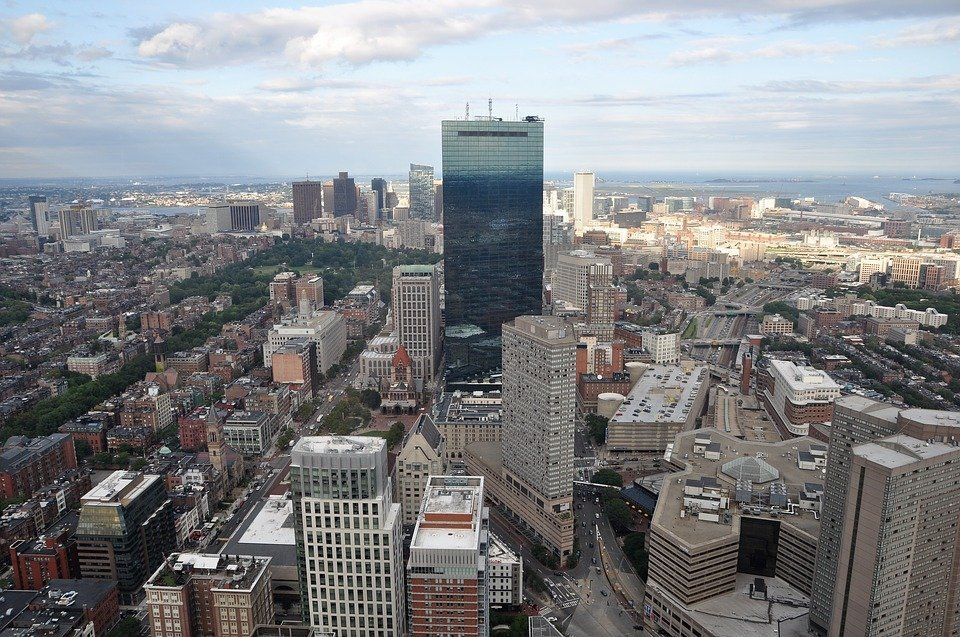 Picture Boston from the sky